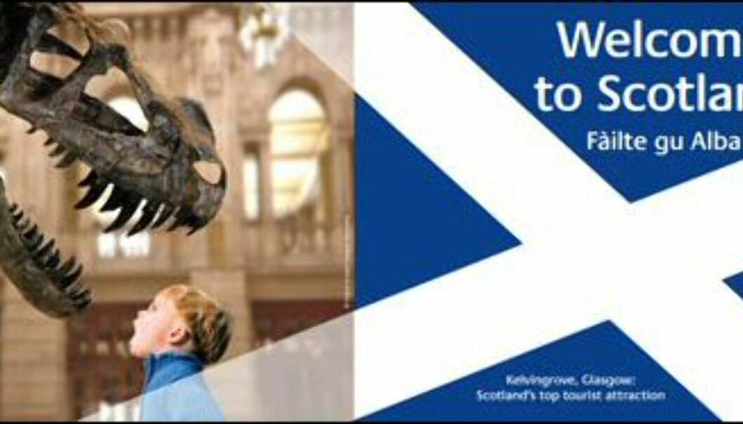Kanskje ikke plakaten som frister turistene mest...<br /> <i<Foto: Visit Scotland</i> Foto: Visit Scotland