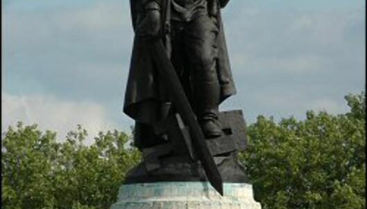 Denne russiske soldaten er parkens hovedstatue.<br /> <i>Foto: Tore Neset</i> Foto: Tore Neset