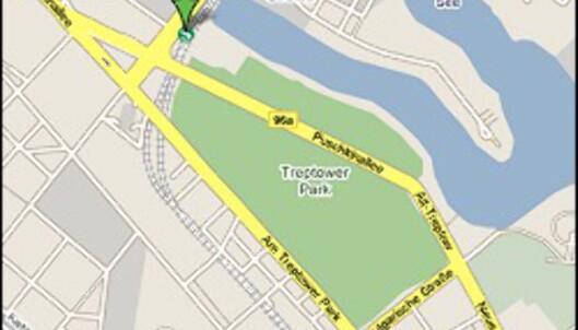 Her finner du Treptower Park.<br /> <i>Foto: Google</i> Foto: Google