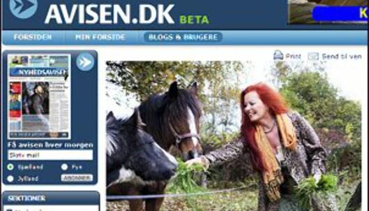 Isabella Lerchbacher, kvinnen som har fått erstatning for stress. <i>Faksimile fra avisen.dk.</i>