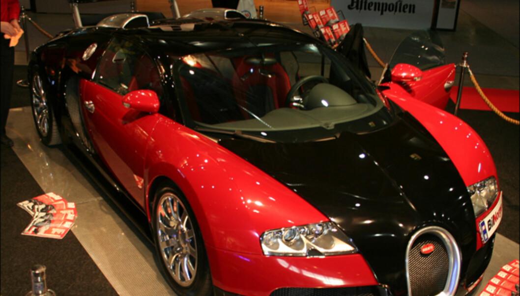 Bugatti Veyron, som nylig mistet verdensrekorden til SSC. Pris: Ca. 13 mill.