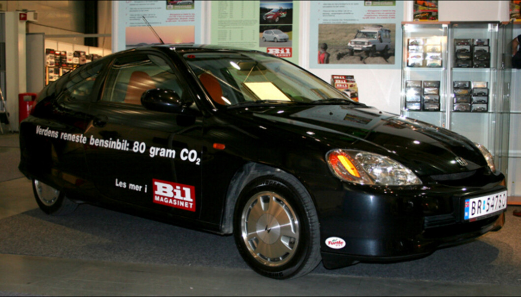 En tidlig hybrid: Honda Insight, ny maskot for bladet Bilmagasinet