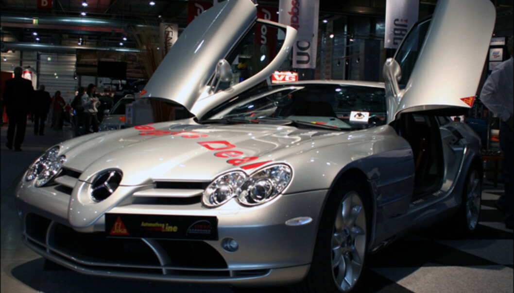 Mercedes SLR McLaren - her som reklame-blikkfang