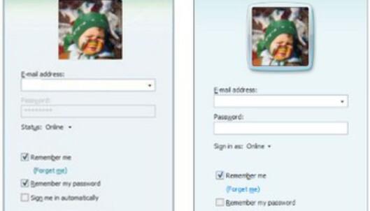 <center>Live Messenger 8.1 til venstre, 8.5 til høyre.</center>