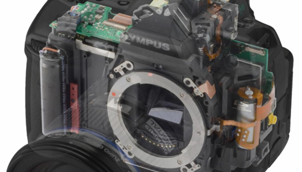 For de som ikke har røntgenbriller - slik ser kameraet ut under skallet.