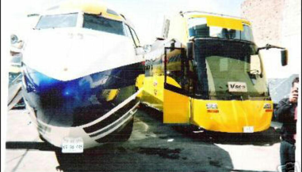 Sjekk forholdet jet-limousinen og bussen!