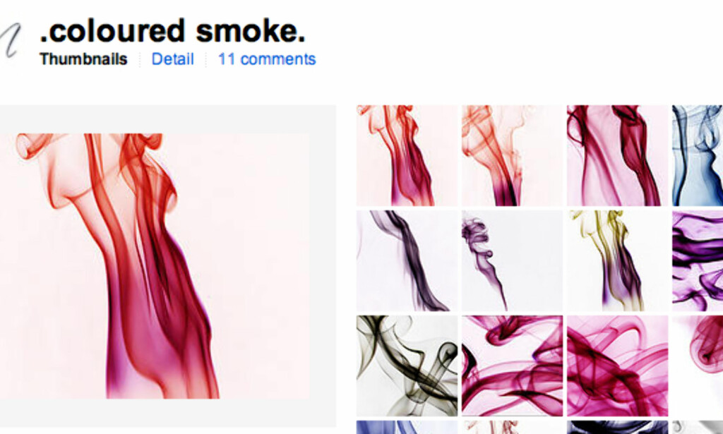 .coloured smoke (faksimile, Flickr.com)