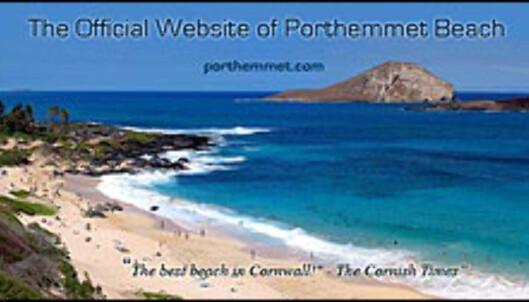 Faksimile fra nettsiden om Porthemmet Beach.