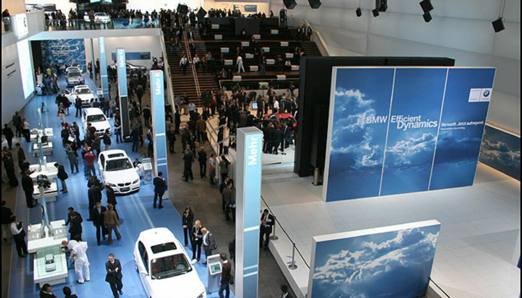 Et parti av BMW-standen - eller rettere sagt hallen