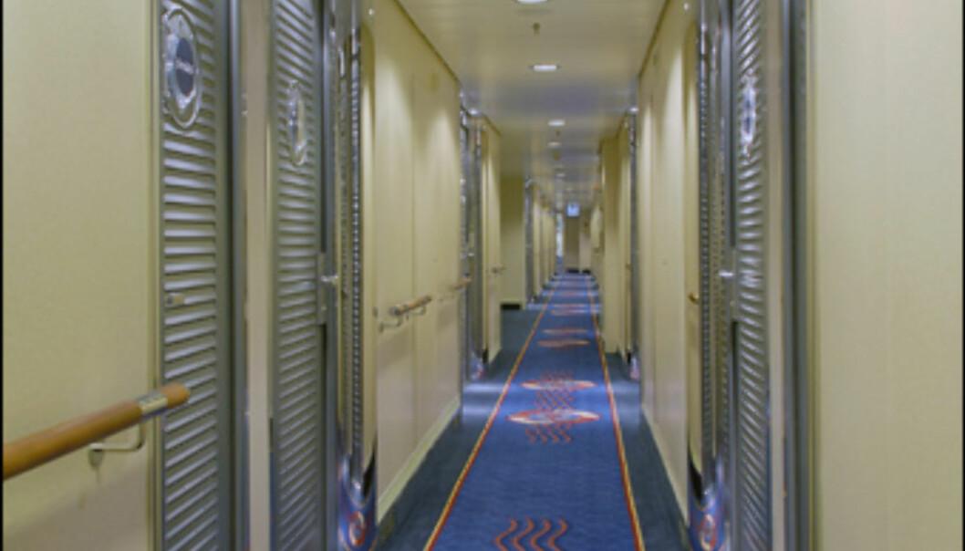 En kabinkorridor Foto: Aker Yards