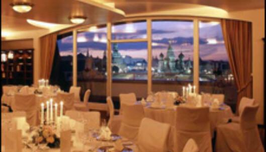 Det er dyrt å bo på fint hotell i Moskva. Foto: Hotell Baltschug Kempinski