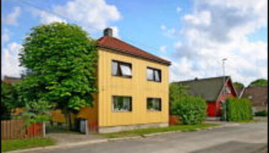 Hus på festetomt i Skolegata 74. Verdi: 1,4 mill. <i>Foto:Finn.no</i>