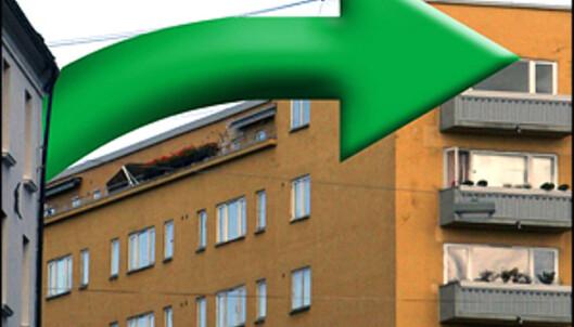 Pilene begynner å peke nedover på boligmarkedet. <i>Bilde: Per Ervland.</i>