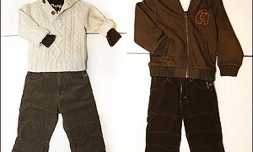 Disse antrekkene er plukket på H & M. Antrekket til venstre koster 357,50 kroner. Antrekket til høyre koster 377,50 kroner. Foto: Per Ervland