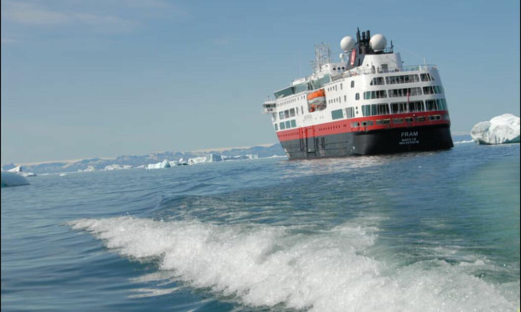 Fram i isen. Foto: Lars Brubæk