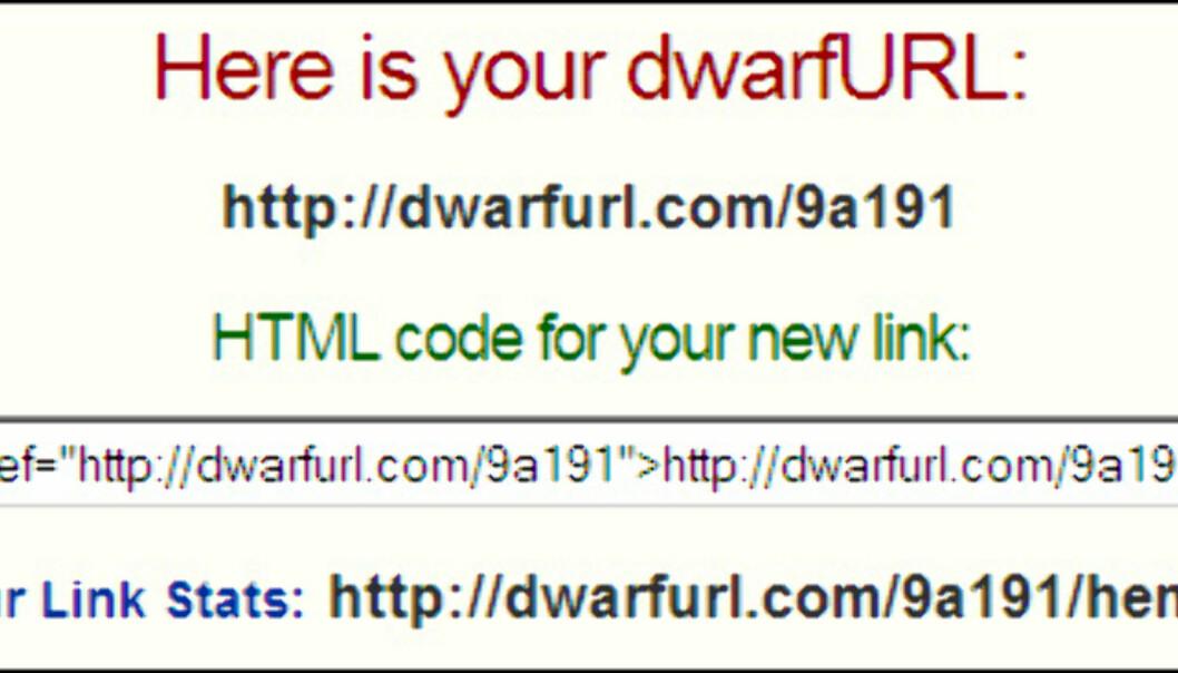 Tjenester som korter ned web-adresser