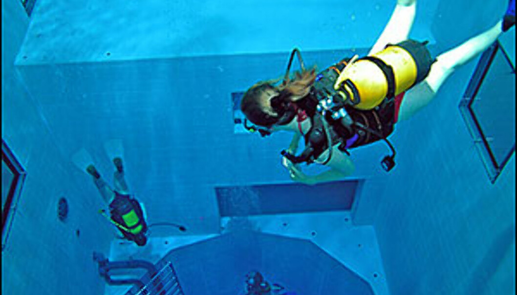 33 meter ned. Foto: Nemo 33