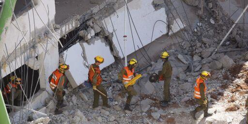 image: P-hus kollapset, flere innesperret