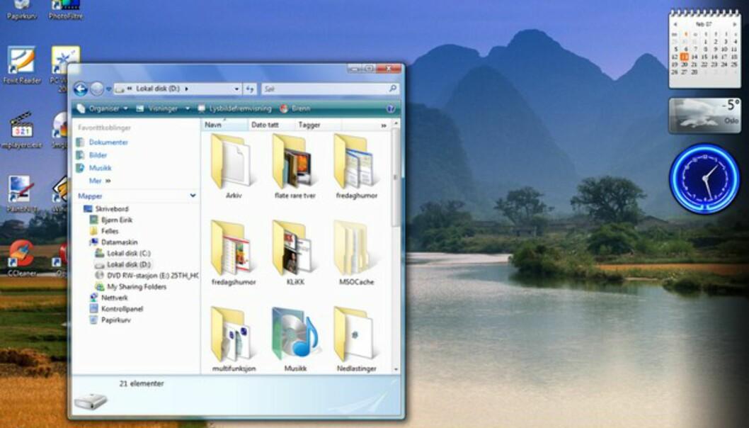 Vista er lekkert så det holder, men trives aller best på nye PCer.