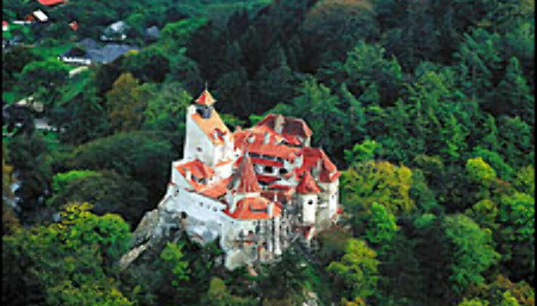 Slottet ligger pent plassert på en høyde til alles beskuelse. Foto: Liviu Jianu