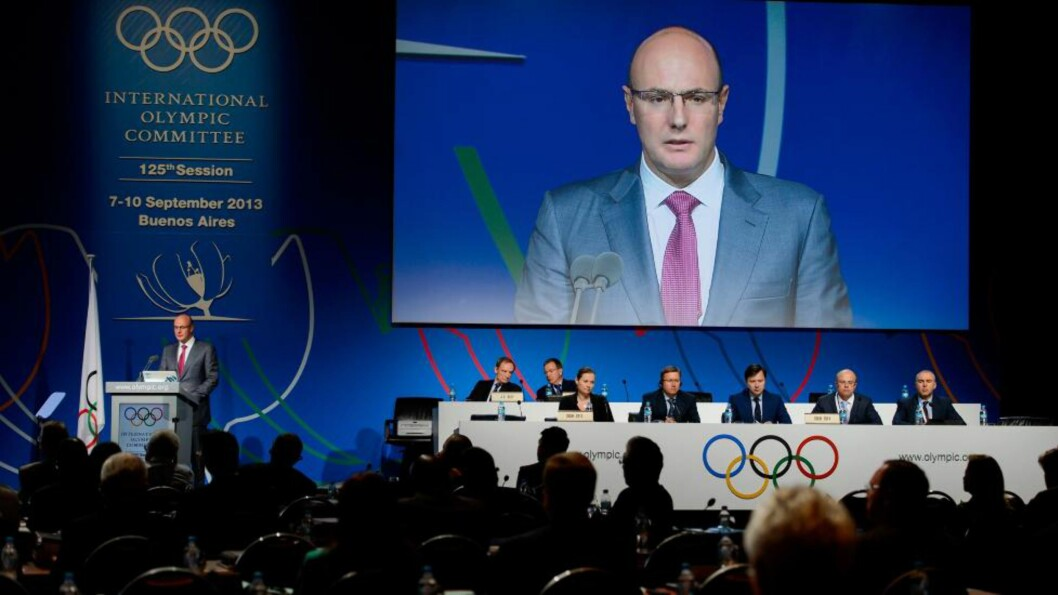 <strong>FORSIKRER AT ALLE ER VELKOMNE:</strong> OL-sjefen i Sotsji, Dmitri Tsjernysjenko talte på koordinasjonsmøtet i Buenos Aires i går.Foto: AFP  / FABRICE COFFRINI / NTB Scanpix