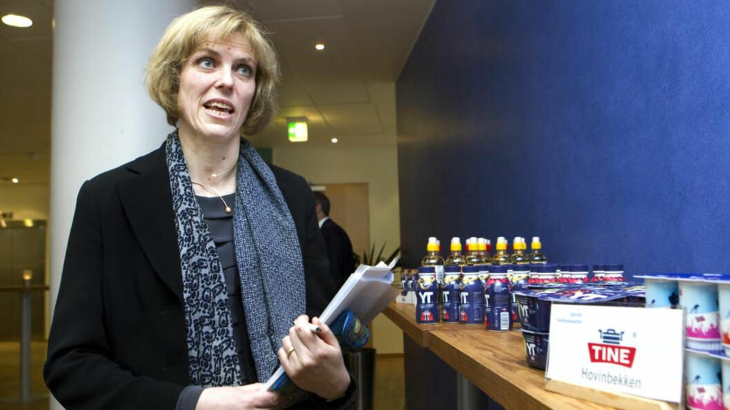 <strong>KOSTNADSKUTT:</strong> Konsernsjef Hanne Refsholt i TINE har tatt mål av seg til å forbedre bunnlinjen med 750 millioner kroner. Foto: Berit Roald / Scanpix