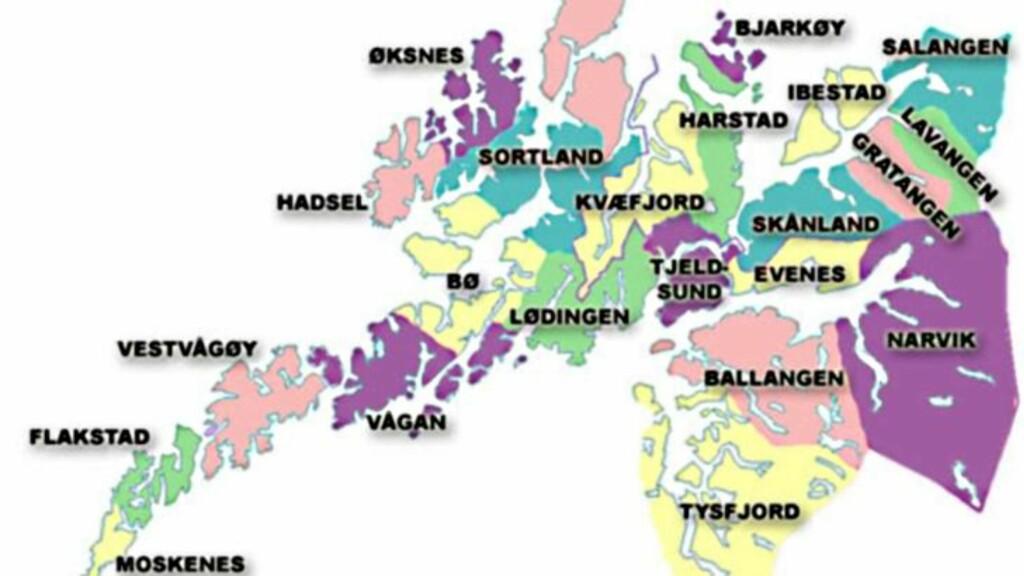 nordland kommuner kart ALARM! Nødsentralen lå åpen på nett   Dagbladet nordland kommuner kart