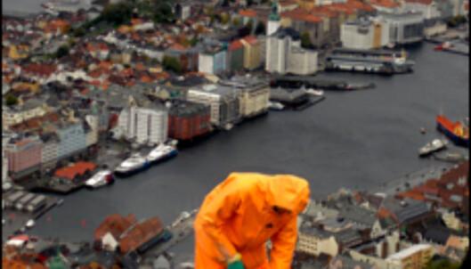 Til sommeren skal byggearbeidet på Fløien stå ferdig. Da skal utsikten visstnok bli enda mer imponerende. Foto: Kim Jansson