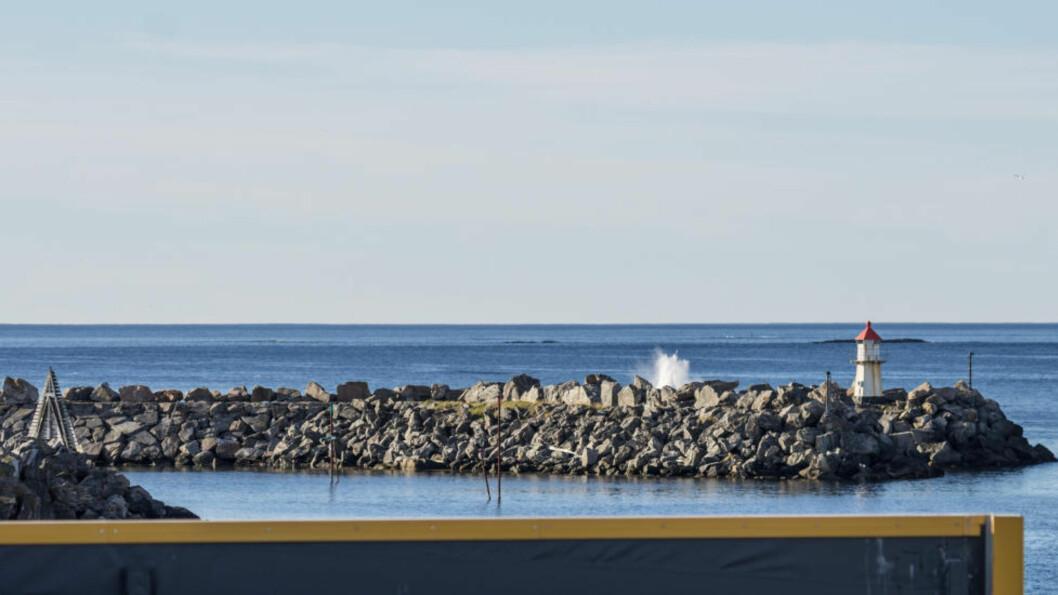 PLASK I HAVET: Scramjet-raketten går rett i havet, kun 200 meter fra Tommy Larsens arbeidsplass. Alle foto: Tommy Larsen
