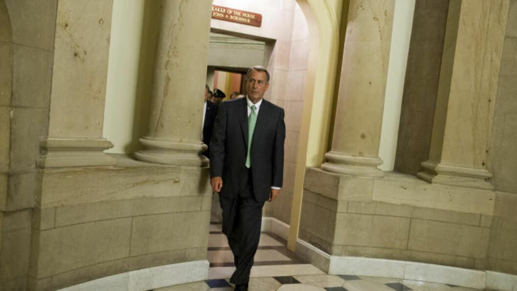 <strong>VIL IKKE HA OBAMACARE:</strong> Republikanernes leder i Representantenes hus John Boehner er kritisk til Obamas Obamacare-program. Foto: Evan Vucci / AP Photo