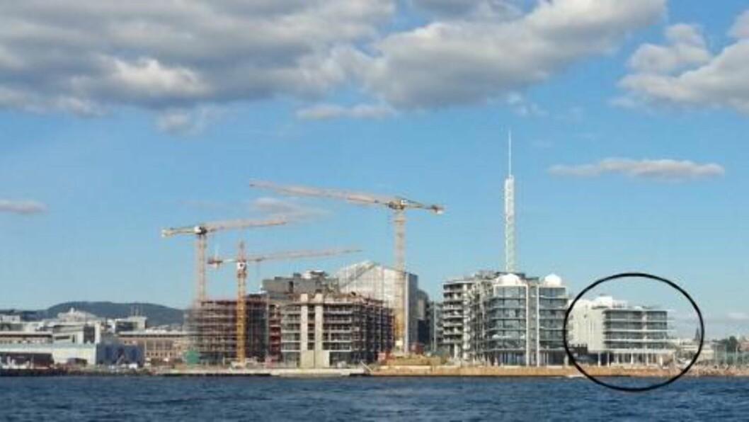 EIENDOM: Bygget med rekordleilihetene ligger helt til høyre på Kavringen Brygge på Tjuvholmen. Foto: HegnarOnline