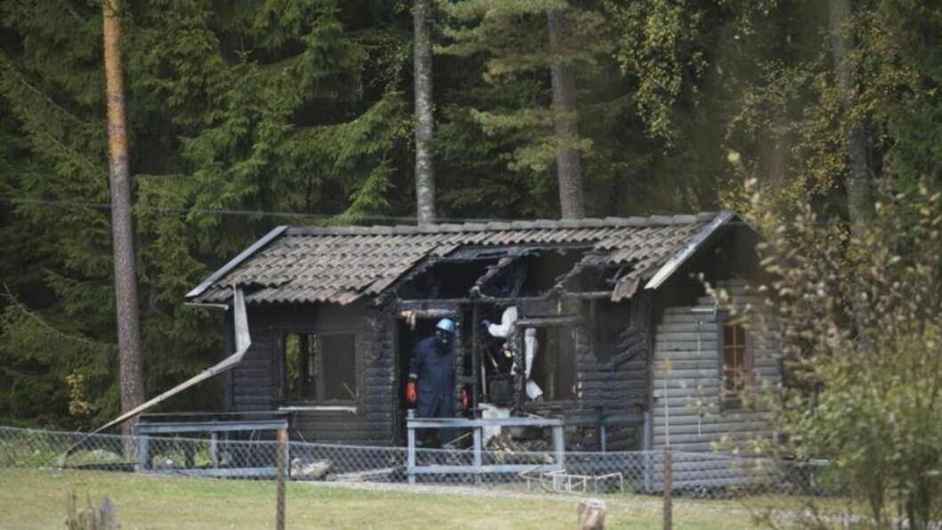 <strong>ERKJENNER:</strong> Pappaen innrømmer å ha tent på hytta der to av hans tre barn omkom i helga. Foto: Malin Lööf / Expressen