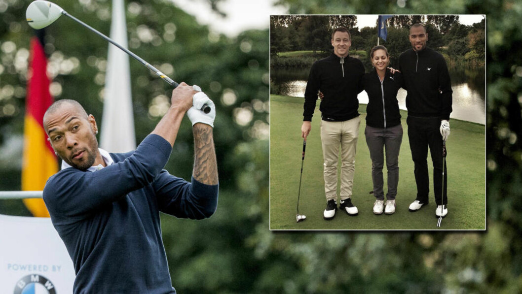 GOLFER:  John Carew har lagt fotballskoene på hylla, og nyter dagene som fotballpensjonist, blant annet ved å spille golf sammen med John Terry. Foto: Stian Lysberg Solum / Instagram