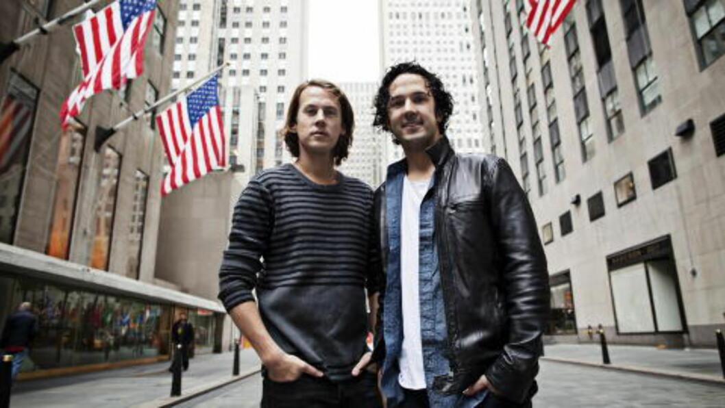 <strong>NY NEW YORK-TUR:</strong> Sist gang Ylvis var i New York, lagde de låta som nå ligger på 6. plass på Billboard-lista. Foto: Linus Sundahl-Djerf