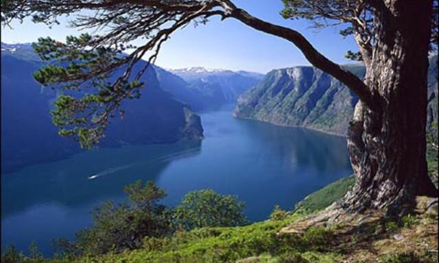 c7167de8 ... AURLANDSFJELLET: Veien går i vakkert fjordlandskap mellom Aurdal og  Lærdal. Foto: Bård Løken