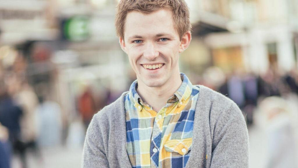 NY LEDER: Emil André Erstad er ny leder i KrFU. Foto: KrFU