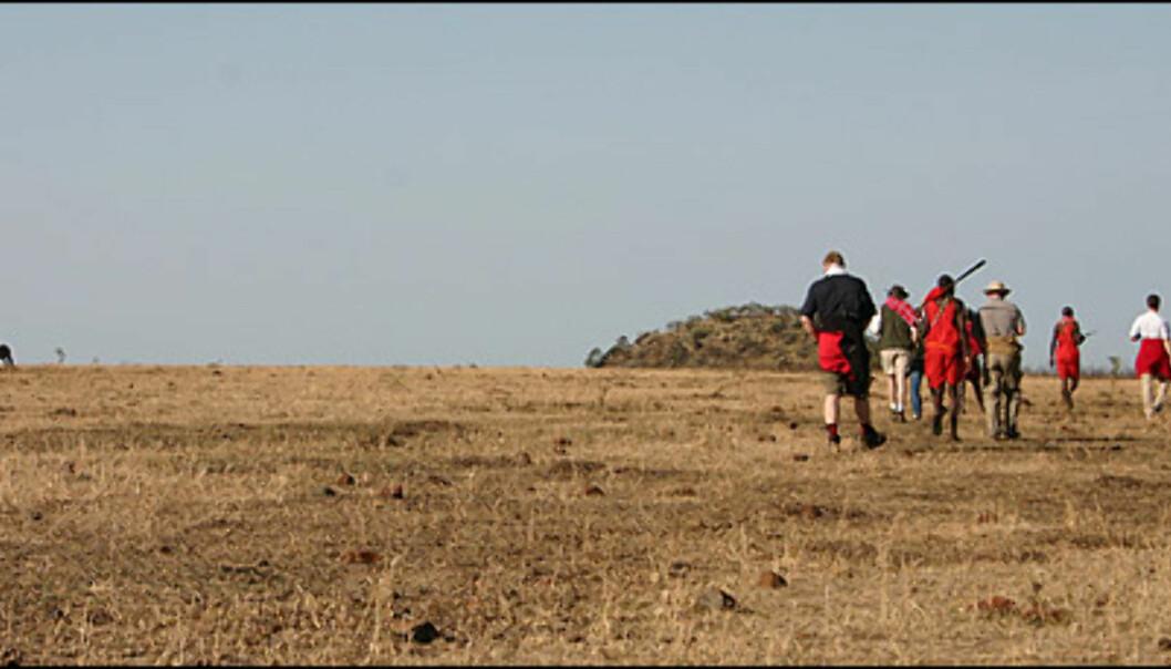 Fot-safari er ikke lov i selve vilt-reservatet, men kan arrangeres i nasjonalparken som omgir reservatet.