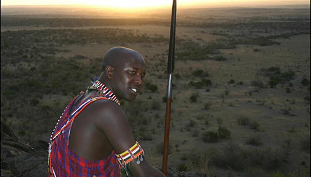 Masaiene er uløselig knyttet til nasjonalparken de har gitt navn til. Her en av våre guider, Amos Sironka Ole Tininah.
