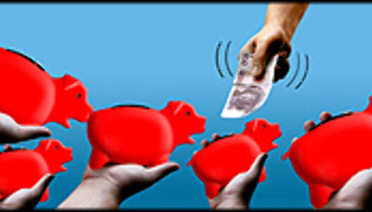 <strong>Få mer penger i sparegrisen! <I>Illustrasjon:</strong> Per Ervland.</I>
