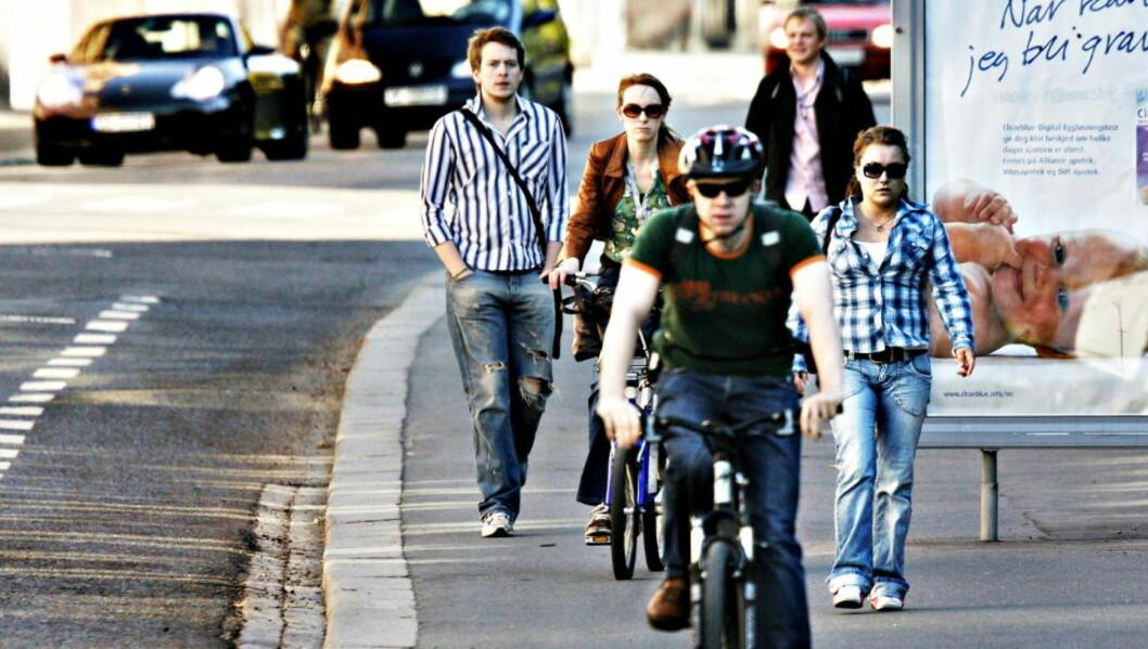 <strong>SYKKELSINKE:</strong>  I Oslo sykler sju-åtte prosent av befolkningen til jobb. I København er tallet nærmere 40. Foto: NINA HANSEN/Dagbladet