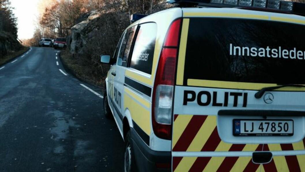 <strong>POLITI:</strong> Politiet var raskt på stedet med flere biler. Foto: Leserbilde.