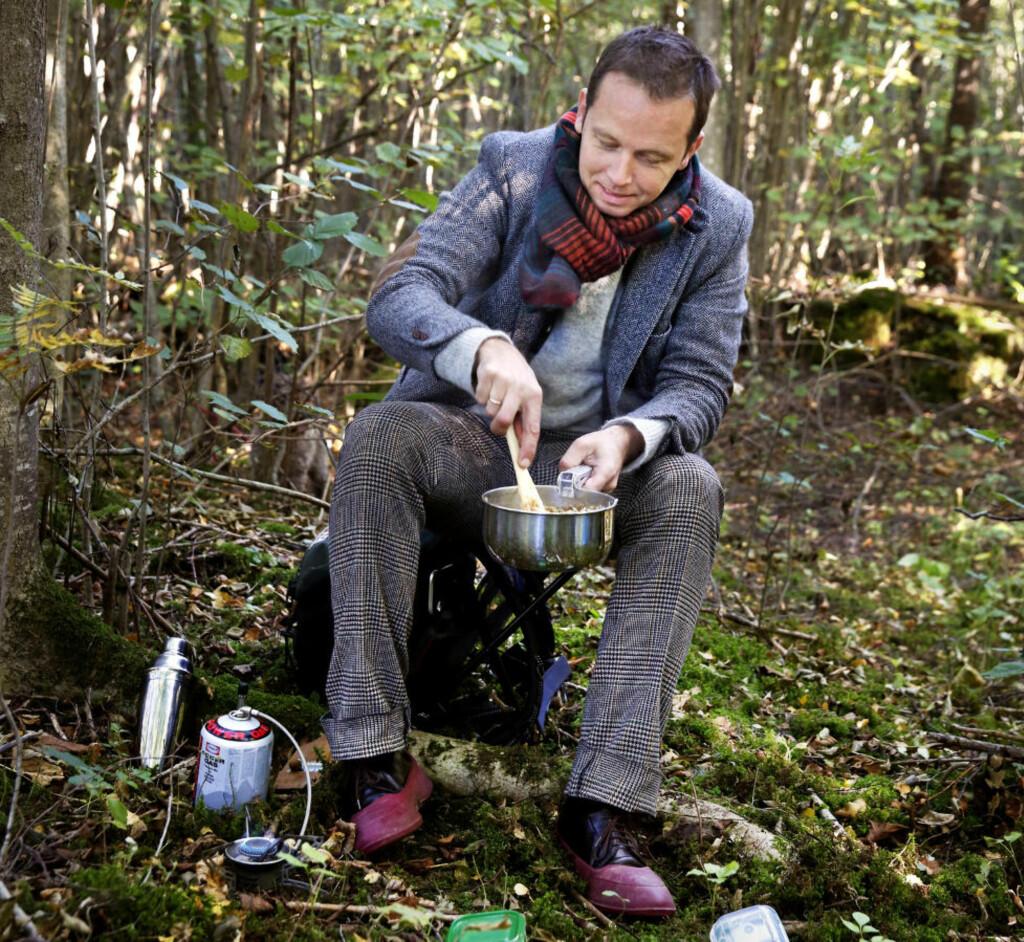 Løper i vann: Selv om du ikke får tak i løpekuler eller norske trøfler som Andreas Viestad bruker, blir risotto deilig med bare tørket sopp.