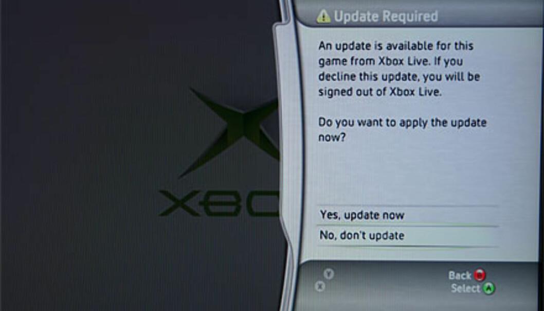 En oppdatering kreves før du kan spille gamle Xbox-spill