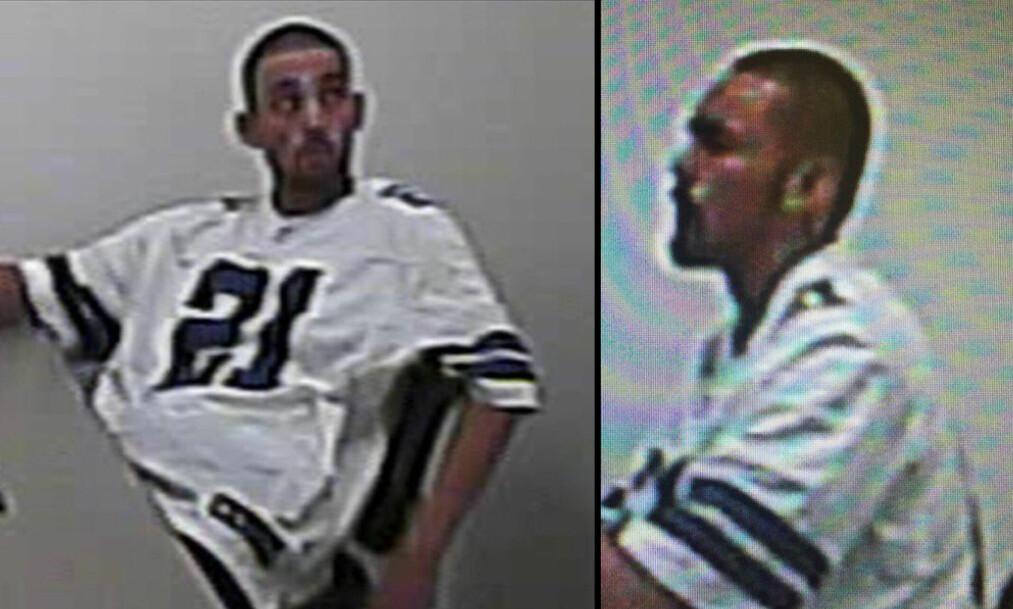 <strong>VAR ETTERLYST:</strong> Disse bildene ble tatt av 25-åringen da han stakk av fra politiets varetekt 3. september. Det var også disse bildene politiet brukte i etterlysningen av ham da nyheten først ble kjent. Foto: North Las Vegas politidistrikt