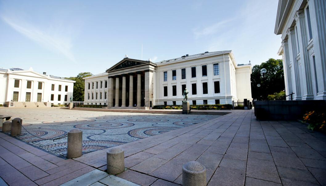 <strong>JUSSENS HØYBORG:</strong> Det juridiske fakultet ved Universitetet i Oslo holder til i de opprinnelige universitetsbygningene ved Karl Johans gate. Foto: Lise Åserud, NTB Scanpix.