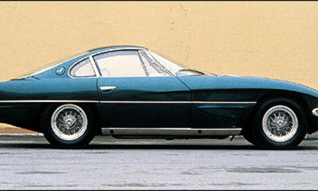 350 GTV: Slik så den ut, den aller første prototypen bygget av Ferruccio Lamborghini.