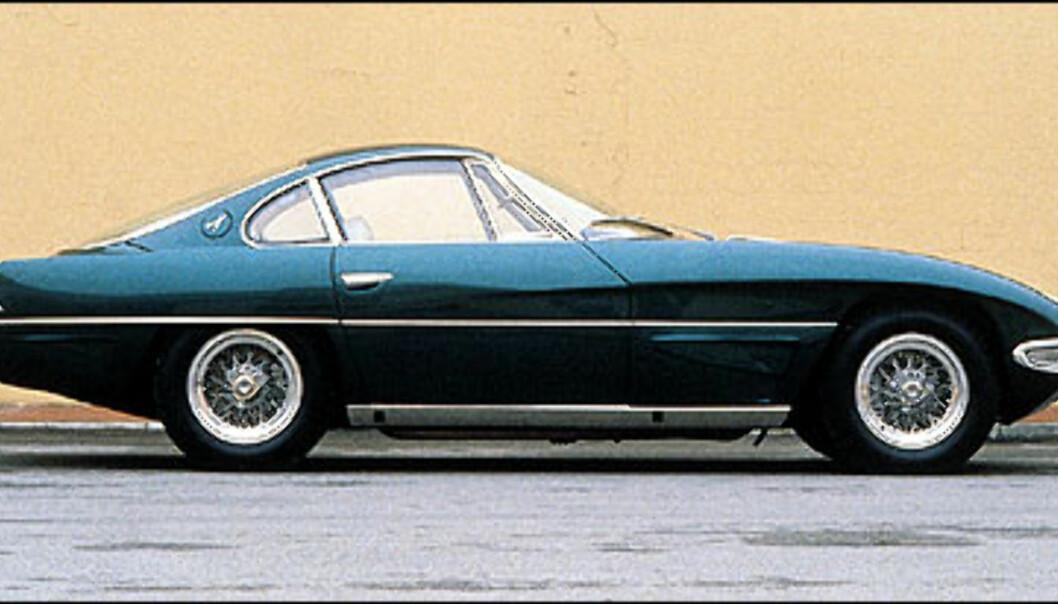 <strong>350 GTV:</strong> Slik så den ut, den aller første prototypen bygget av Ferruccio Lamborghini.