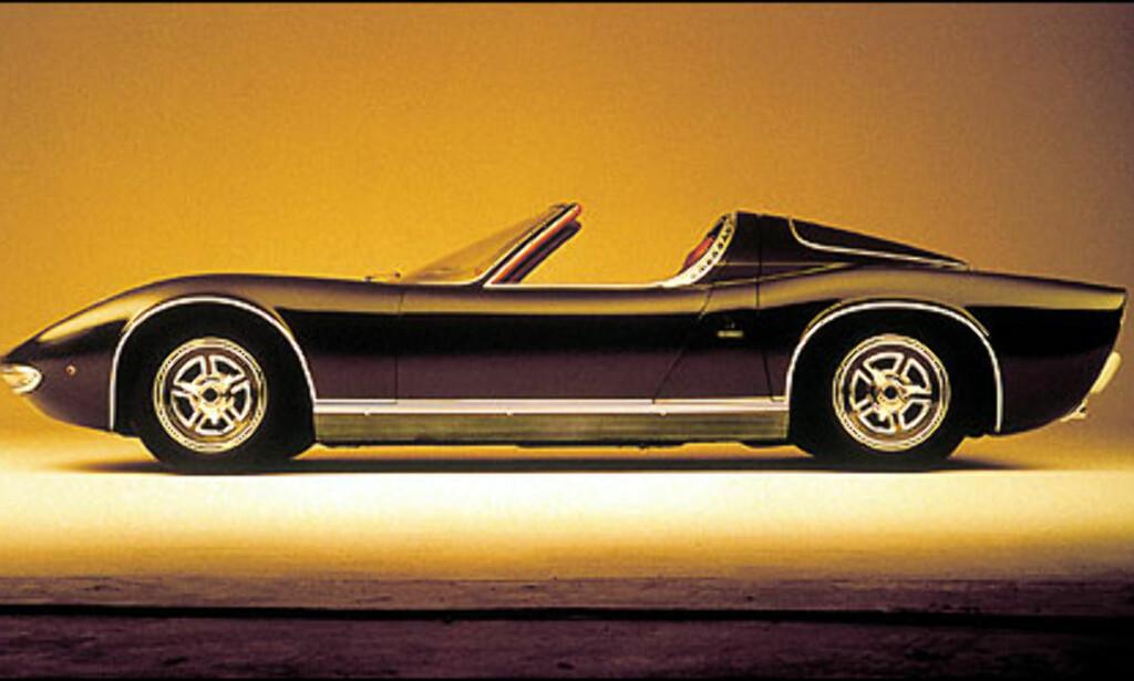 Miura roadster fra 1968.