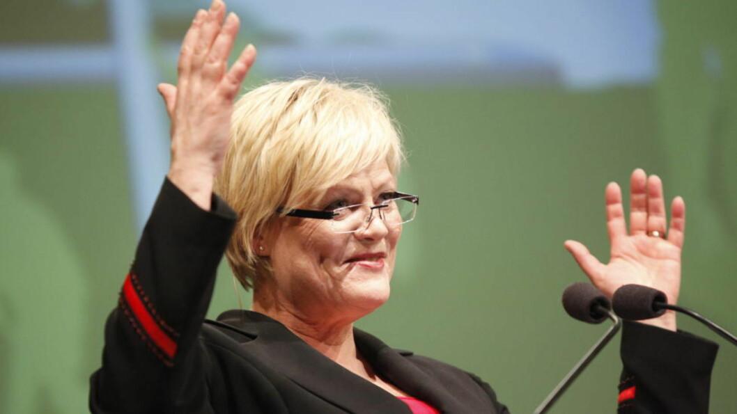 <strong>PLANER PÅ TØYEN:</strong> Statsråd Kristin Halvorsen (SV) er ikke overbevist av universitetets kuvending i veksthussaken på Tøyen. Foto: Anette Karlsen / NTB Scanpix