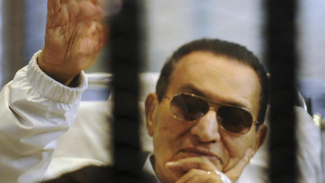 <strong>DIKTATOR:</strong> Tidligere president Hosni Mubarak holdt Egypt i et jerngrep i 30 år, fram til han ble avsatt av demonstranter på Tahrir-plassen. Foto: REUTERS / Stringer / NTB scanpix